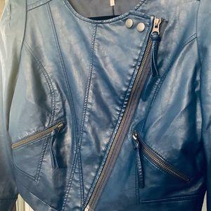 Free People Jackets & Coats - Free People Vegan Leather Moto Jacket NWOT. 4